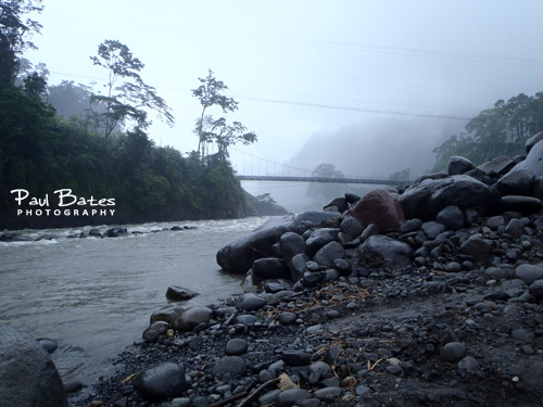 Free Picture: Photo of the Reventazon River, Florida section in Costa Rica where smooth rocks line the banks and clouds roll in for a warm midday rain shower. This picture was actually taken with a tough, waterproof point and shoot camera.