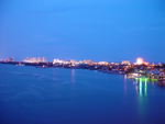 Free Photo of Daytona Beach Shores River Skyline Dusk
