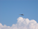 Photo of F/A-18 Hornet Fighter Jet Clouds Sky