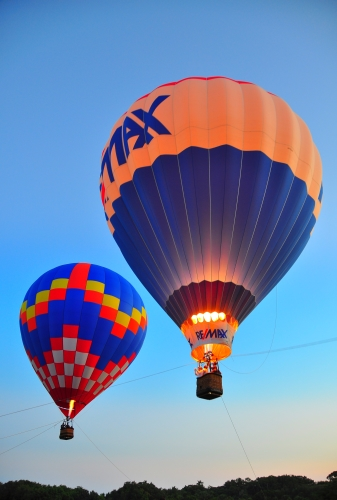 Free Picture: Photo of a hot air balloon ride put on at the New Smyrna Beach airport in FL.