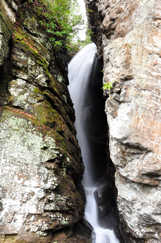 Free Picture: Photo of a beautiful waterfall called Raven Cliff Falls that's located at the end of the Raven Cliff Falls Trail near Helen, GA.