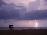 Free Photo of Lightning Bolt Strike Ocean Daytona Beach Florida