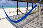 Photo of Colorful Beach Hammocks Cozumel Mexico