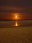 Photo of Martian Red Moon Rising Beach Florida