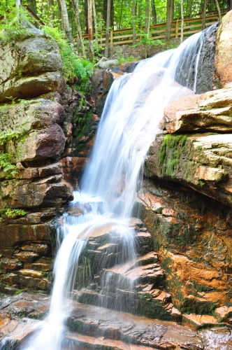 Free Picture: Photo of Avalanche Falls waterfall in Flume Gorge, Franconia Notch State Park, NH.