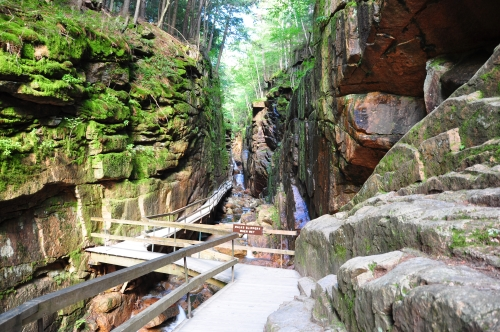 Free Picture: Photo of the Flume Gorge in Franconia State Park in NH.