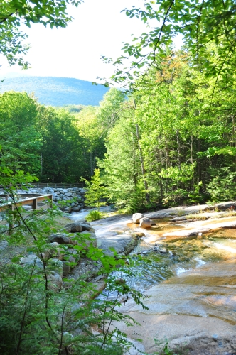 Free Picture: Photo of downstream from Table Rock in Flume Brook, New Hampshire.