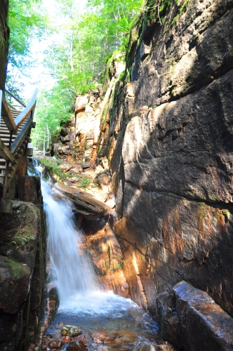 Free Picture: Photo of a waterfall at Franconia Notch State, NH.