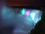 Photo of Niagara Falls Canada Night Lighting Purple Aqua