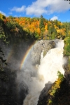 Photo of Canyon Sainte-Anne Waterfall Rainbow Quebec