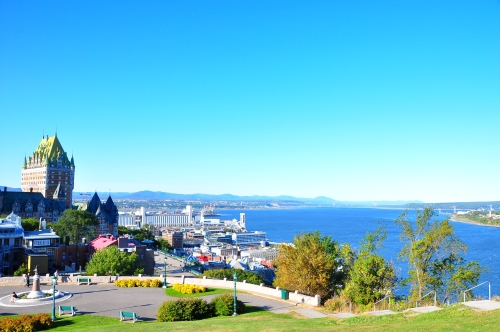 Free Picture: Photo of the view of Quebec City and the St. Lawrence River from la Citadelle de Quebec.
