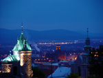 Photo of Quebec City Gate Overlook At Night Canada