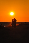 Photo of Sun Couple Silhouette Love Hugging Sanibel Island Sunset