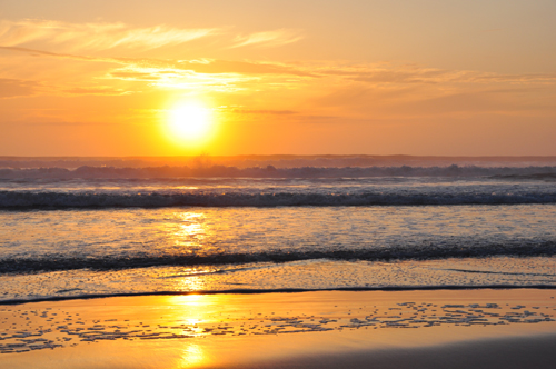 Free Picture: Photo of a beautiful orange beach sunrise in Wilbur by the Sea, Florida.
