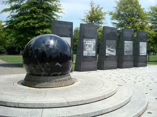 Free Picture: Photo of the World War II Memorial at Bicentennial Capitol Mall State Park in Tennessee.